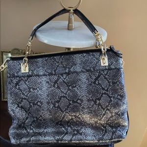 Ladies silver n black bag